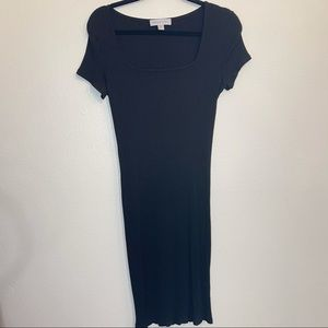 AMOUR VERT Body Con Modal Ribbed Knit Dress Large